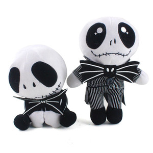 20-25cm bonito do crânio Standing Nightmare Before Jack Natal Devil Doll JACK Crânio Spoof diabo Plush Toy presente boneca