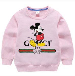 Kız bebekler Gökkuşağı Triko Çocuk Uzun kollu Hoodie Karikatür Gökkuşağı Baskılı Püsküller tişört Sonbahar Kış Yeni çocuk giyim