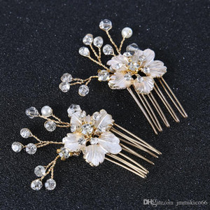 NEW Bridal tiara wedding hair accessories with jewelry pin u - clip pearl classic hair flower hairpin