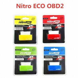 Nitro OBD2 EcoOBD2 ECU Chip Tuning Box Plug-NitroOBD2 Eco OBD2 Cars essence diesel 15% économiser le carburant Plus de puissance dropshipping VeQw #