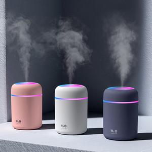 Tragbare 300ml Befeuchter USB Ultraschall-Dazzle Cup Aroma Auto Diffusor kühlen Nebel-Hersteller Luftbefeuchter Purifier mit Romantik-Licht
