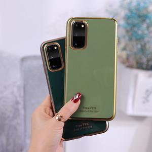 Caja del teléfono de chapado de silicona para Huawei P40 P30 Pro Lite Honoe 9X mate 30 Y9 Nova 6 contraportada