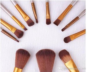 Professional 12 PCS Makeup Brushes Cosmetic Facial Make up Brush Tools Makeup Brushes Set Kit With Retail Box DHL
