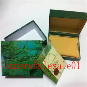 Free shipping Luxury watch Mens For rolex Watch Box Original Inner Outer Womans Watches Boxes Men Wristwatch Green box booklet card 724