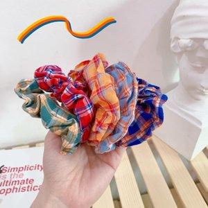 Corée du Sud en ligne Celebrity Tissu Grande Intestin bague à la main des cheveux bande florale Imprimer rayé Plaid femmes Accessoires cheveux