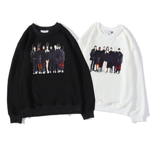 Mens Stylist Hoodies Autumn Men Women Long Sleeve Pattern Print Hoodies Black White Pullover Sweatshirts Size M-2XL Men Tops