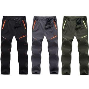Primavera verano rápido fresco pantalones largos pantalones deportes transpirable pantalón hombres más tamaño al aire libre senderismo camping pantalones de pesca 2017 RM098