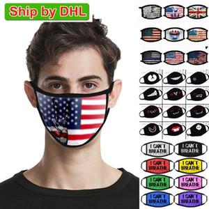 США со Проектировщик взрослых Дети Маска для лица я не могу Дыхание Жизни Black Matter Trump Хлопок для велотуристов Флаг моющийся многоразовый Тканевые маски