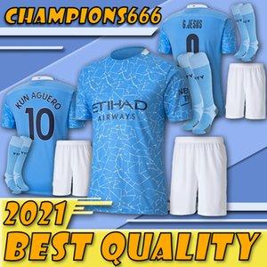 Special update!!!Manchester 20 21 STERLING DE BRUYNE KUN AGUERO 19 20 21 manchester soccer jersey city jersey football shirt men suit+Socks