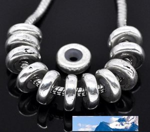 Antique Silver Tone Stoppers W Rubber Beads Fits European Charm Bracelet 11x3.5mm Jewelry Findings