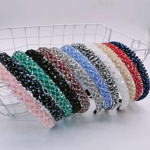 Nuevas bandas para la cabeza de diamantes de color rojo para las mujeres de fiesta con bandas para la cabeza Crystal 12 piezas de diseño del rhinestone de cintas para la cabeza