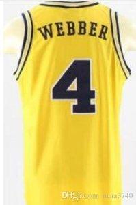 Coutume femmes hommes jeunes vintage # 4 Michigan State Chris Webber Unsigned Basketball Jersey Taille S-4XL ou sur mesure tout maillot de nom ou le numéro