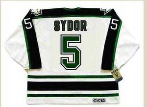 mulheres costume Homens Jovens Vintage # 5 Darryl Sydor Dallass Estrelas 1990 CCM Hockey Jersey Tamanho S-5XL ou personalizado qualquer nome ou número