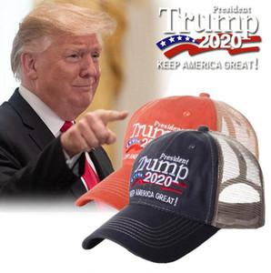 Casual lavada bordado Trump sombrero unisex Donald Trump 2020 campaña electoral estadounidense gorra de béisbol sombreros del partido OOA8198