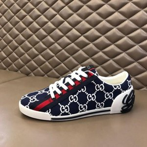 high quality Luxe Men Vintage Low-top Printed Sneaker Designer Mesh slip-on Running Casual Shoes Lady Fashion Mixed Breathable Trainers