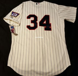 Barato! Majestosas, Minnesota # 34 Kirby Puckett, NO CAMPO Jersey Mens costurado Atacado grande e TAMANHO Alto XS-6XL camisola do basebol