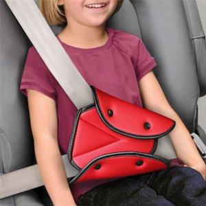 Safety Car Cintura con la copertura del bambino di protezione del bambino robusto regolabile Sedile Triangolo di sicurezza clip cintura Pad Car-Styling Accessori auto