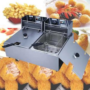 2020, электрическая Фритюрница электрическая сковорода машина Картофель фри Fry производитель нержавеющей стали Бытовая Chicken Фрайер 2500W