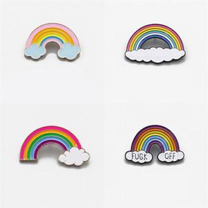 De dibujos animados mini arco iris de colores broche precioso metal pin broches niños les gusta la manera simple accesorios de vestir exquisita 2zj linda E2