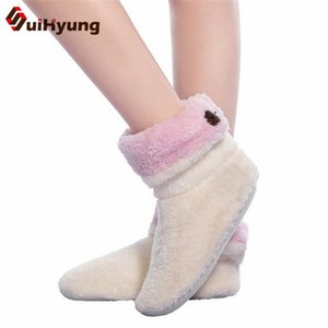's Shoes Women's Suihyung Winter Women Slippers Warm Thick Velvet Ladies Indoor Floor Shoes Soft Plush Slippers House Slip On Cotton