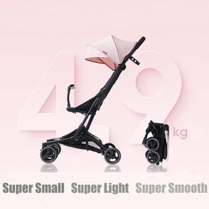 Baby Stroller Folding Car pequeno Lightweight Trolley Pram Four Season Use Mom Stroller -Resistência Quatro Rodas