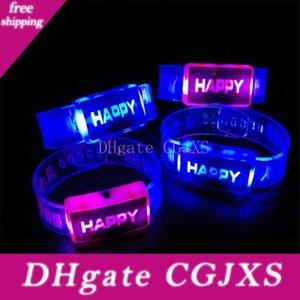 Luminosa Led Flash Happy Color Changing bracciale orologio del partito della fase del randello regalo di festa del partito dei capretti regalo chiaro Q107