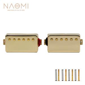 NAOMI 2Pcs Electric Guitar Pickups Humbucker Guitar Pickup Set Chrome Neck & Bridge Pickup