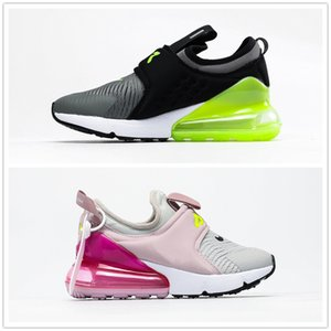 2020 Laceless 27 Breathable Mesh baby Kids Running Sneakers 27C OG Air Cushion boys girls children Athletic Shoes 270s