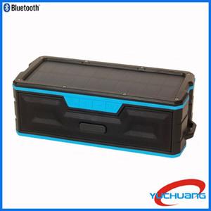 Güneş bluetooth hoparlör, taşınabilir bluetooth hoparlör stereo subwoofer IPX5 su geçirmez telsiz hoparlör, açık ve kapalı için uygundur