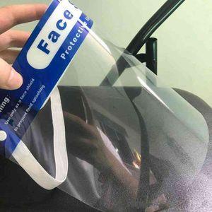 Gesichtsschutzschild Mouth Helm Schutz Sicherheit Anti-Fog Saliva Staub Saliva HD PET-Schild UPS 7 Tage liefern 48Hours Versand