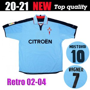 2002-04 Retro Celta Vigo Home Football Shirt 02 04 Saison la plus ancienne Camiseta Milosevic MostoVoi Berizzo Vagner Jersey de football Juanfran