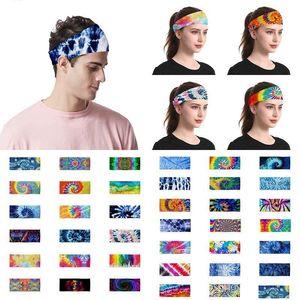 38 style Tie-dye Headband Men and Women Outdoor Sports Turban yoga Turban Ladies cosmetics Party Hats LL16