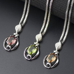 color change nano diaspore leaf pendant necklace in genuine 925 sterling silver gemstone fine jewelry for women girl gift wholesale dropship