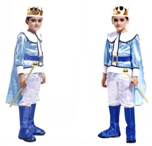 Halloween children's performance suit Male B- 0035 Prince Crown Formal dress masquerade ball Prince dress suit
