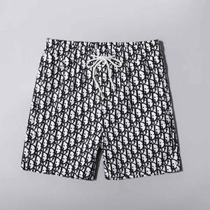 2020 nuevos cortocircuitos de moda de verano tropical nueva junta diseñador corta rápido pantalones traje de baño bordo de impresión seca de la playa de los hombres