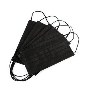 Mascarillas desechables máscara de boca de un adulto de 3 capas balck protector contra el polvo de 3 capas no tejidas chilidren envío rápido libre Máscaras de diseño barco AHF101