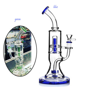 10.6 inchs Blue Glass Bong Water pipes Smoke Pipe Heady Glass Dab Rigs Thick Glass Water Bongs Hookahs Shisha With 14mm