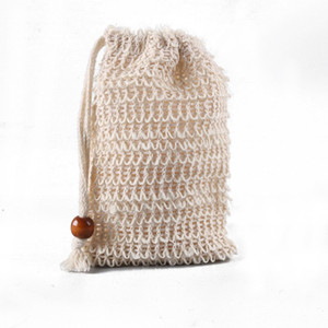 Jabón caliente bolsa de malla bolsa de ahorro bolsas sostenedor para la ducha del baño que hace espuma hecha a mano Suministros bolsas de jabón Ducha WC T2I51175