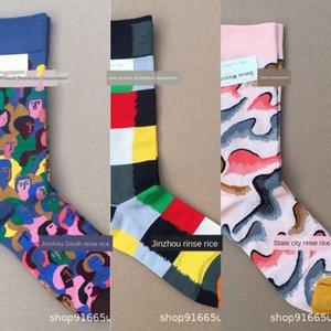Bonne Maison francese illustrazione artistica metà del tubo di cotone mercerizzato stile urbano mercerizzato cotone e calzini tutto-fiammifero calze