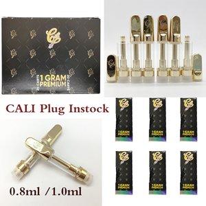 (510) 오일 Vapes 펜 기화기의 inStock 1ml를 0.8 ㎖의 E 담배 유리 탱크 분무기 골드 펜 Vape 키트를 포장 칼리 플러그 카트 Vapes 카트리지