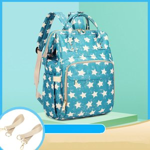 Diaper Bag Baby Star Striped Printed Mummy Maternity Bag for Stroller Waterproof Nappy Backpack Nursing Bags With Hooks