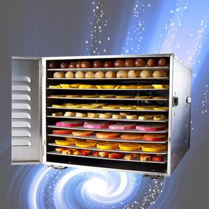 Gıda Dehidrasyon Kurutucu Meyve Makinesi Ev ve Ticari Akıllı Dokunuş 10 katlı Kapasitesi Görsel Kapı Işıklı Kurutulmuş