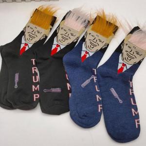 النساء الرجال ترامب طاقم جوارب الشعر الأصفر مضحك الكرتون الرياضة الجوارب جوارب الهيب هوب سوك الشارع الشهير مع DHD616 مشط