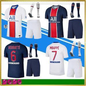 2019 Paris детские комплекты + носок MBAPPE футбол джерси 19 20 psg CAVANI MARQUINHOS LUCAS DI MARIA MATUIDI DANI ALVES Детские футбольные майки