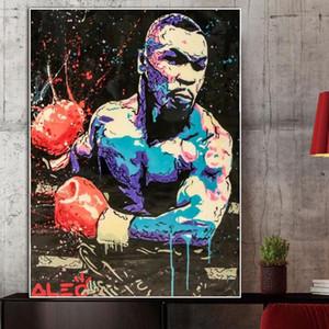 Улица Граффити бокса чемпион Tyson Плакат Wall Art Pictures для Living Room Home Decor (без рамки)