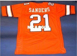 Men # 21 BARRY SANDERS CUSTOM tamanho Oklahoma State COWBOY Colégio Jersey s-4XL ou personalizado qualquer nome ou número de camisa