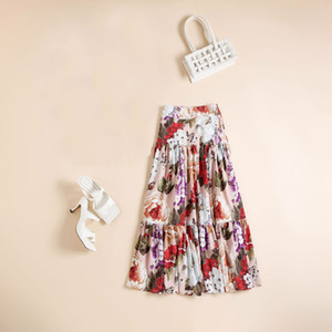 711 2020 Summer Free Shipping Brand Same Style Half skirt Empire Fashion Flora Print A Line AS