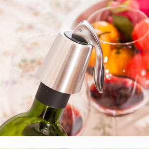 New Stainless Steel Vacuum Sealed Red Wine Storage Bottle Stopper Sealer Saver Preserver Champagne Closures Lids Caps Home Bar Tool I518