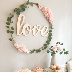 8 pcs wedding Iron Ring Garland Bride Hand Flowers Hoop Portable Artificial Plant Flower Rack Christmas Wreath Home party Decor
