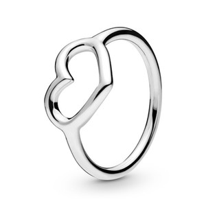 Authentic ALE 925 Sterling Sliver Polished Open Heart Ring New Luxury Designer Jewelry Women Eternity Love statement Rings with Pandora Box